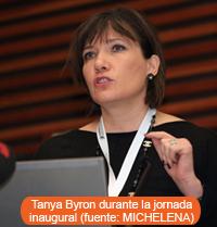 Tanya Byron durante la jornada inaugural(fuente: MICHELENA)