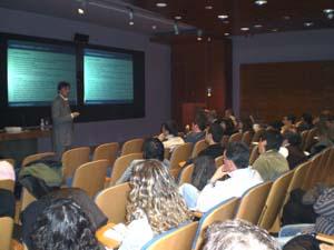 Jorge Flores Fernández en las jornadas del proyecto Dédalo